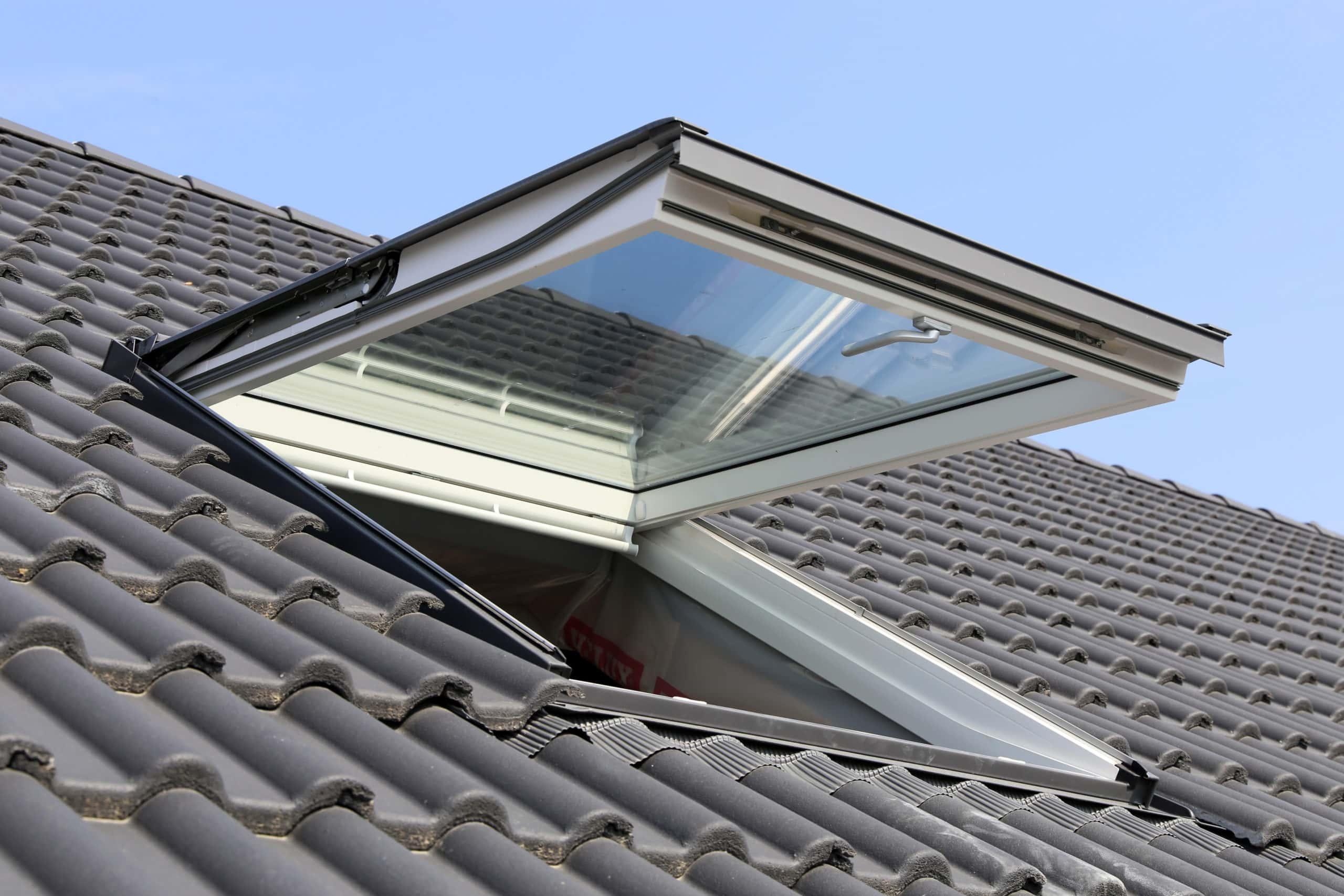 finished skylight installation
